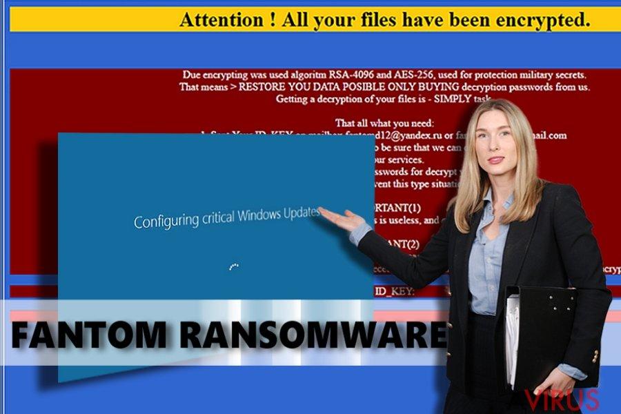 Fantom ransomware vírus kép