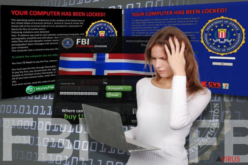 FBI vírus kép
