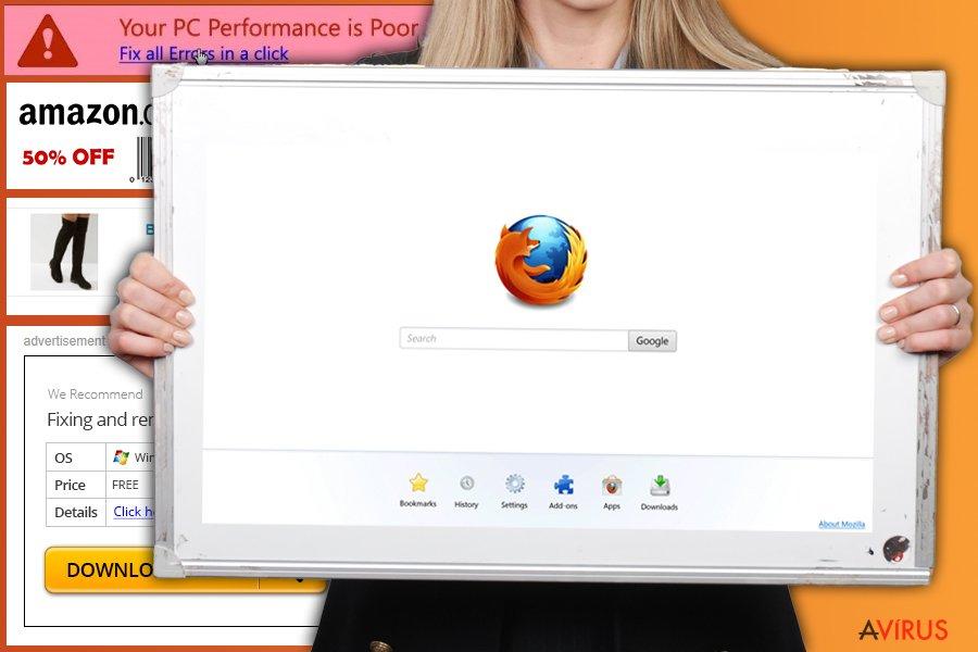 Firefox átirányító vírus