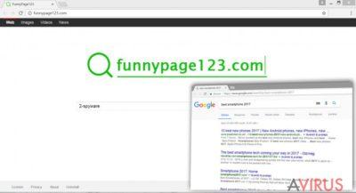 A Funnypage123.com vírus