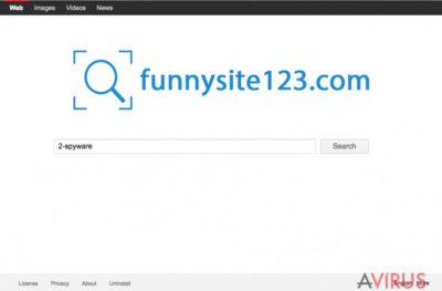 A FunnySite123.com weboldalának képe