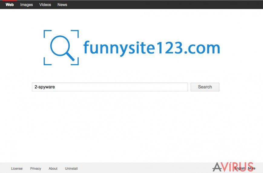 FunnySite123.com screenshot of the site