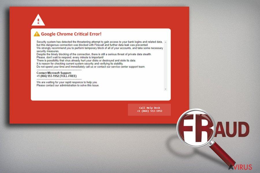 Google Chrome Critical Error kép