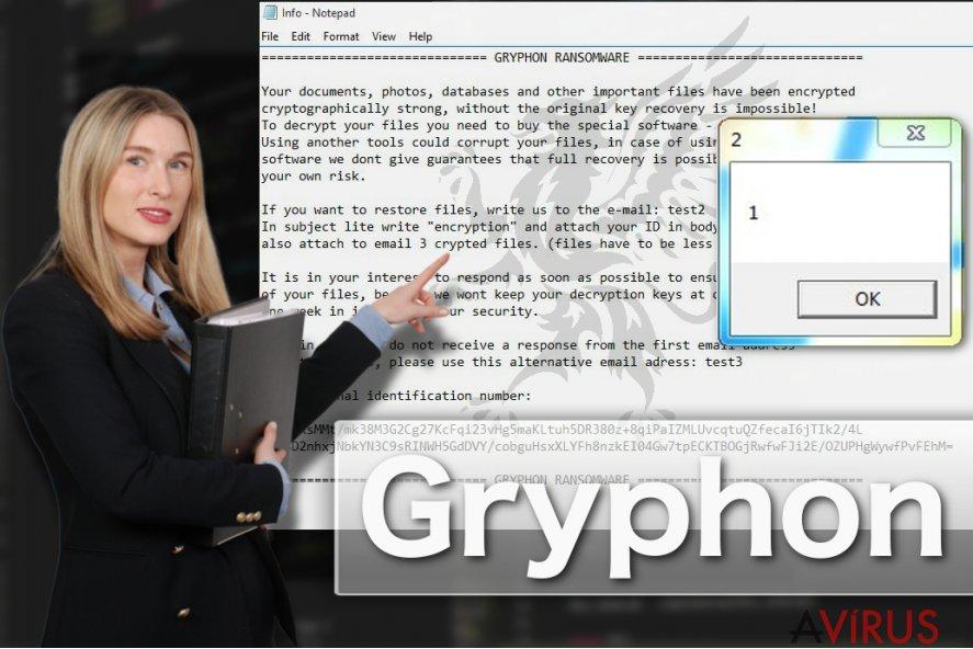 Illusztráció a Gryphon zsarolóvírusról