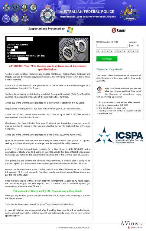 ICSPA vírus kép