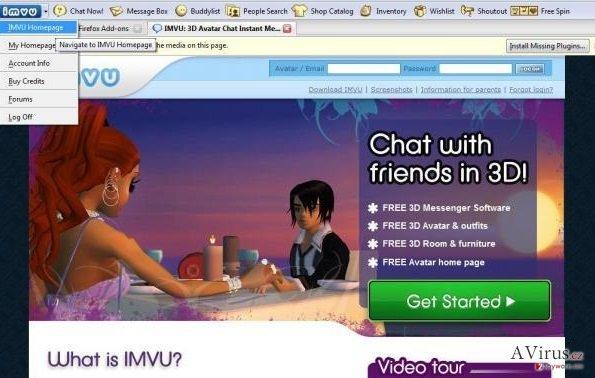 IMVU Toolbar kép