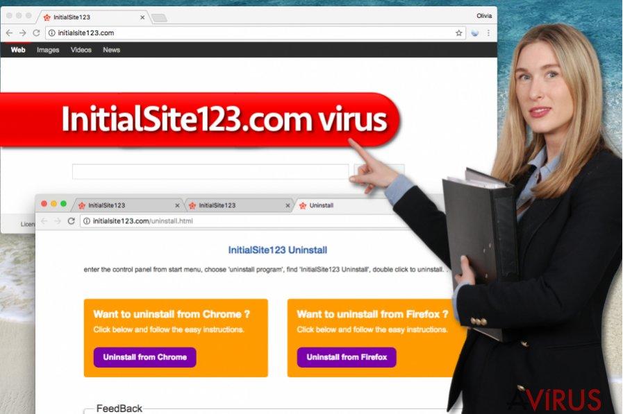 InitialSite123.com vírus