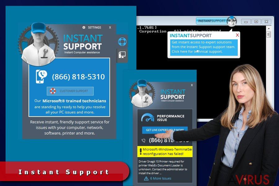 Instant Support hirdetések kép
