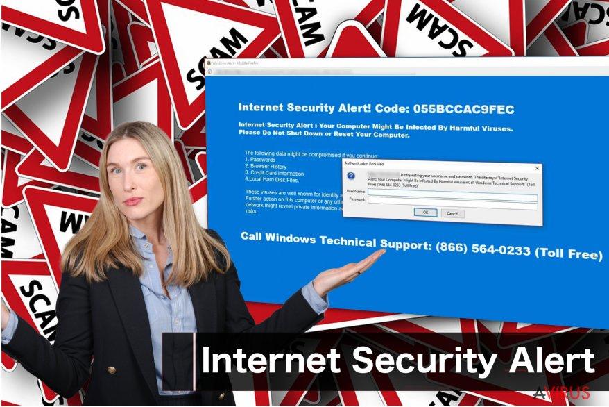 """Az """"Internet Security Alert"""" megtévesztő üzenete"""