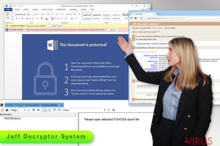 Illusztráció a Jaff ransomware vírusról