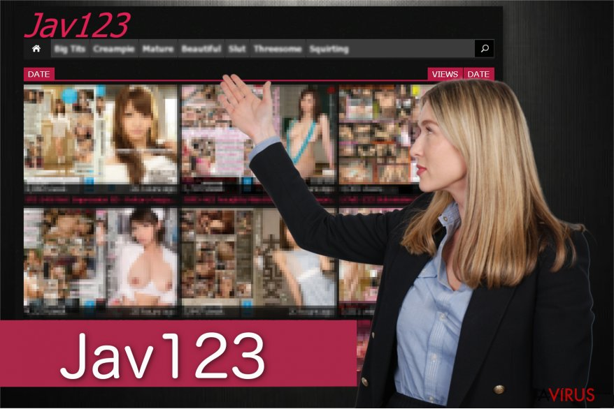 Képernyőkép a Jav123 átirányításairól