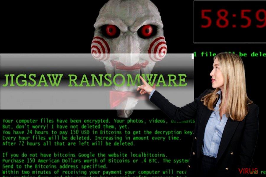 Jigsaw ransomware vírus kép
