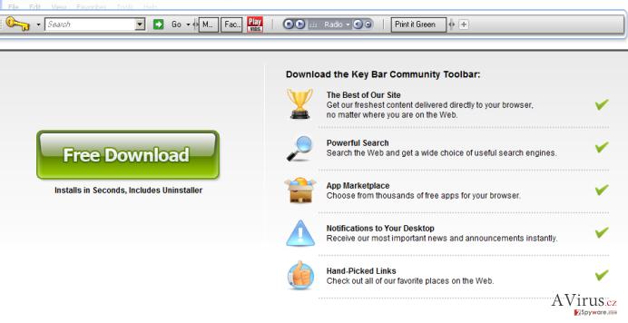 KeyBar eszköztár kép