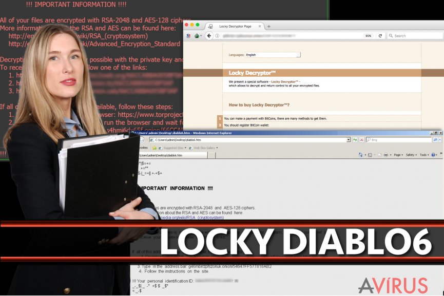Locky Diablo6 vírus