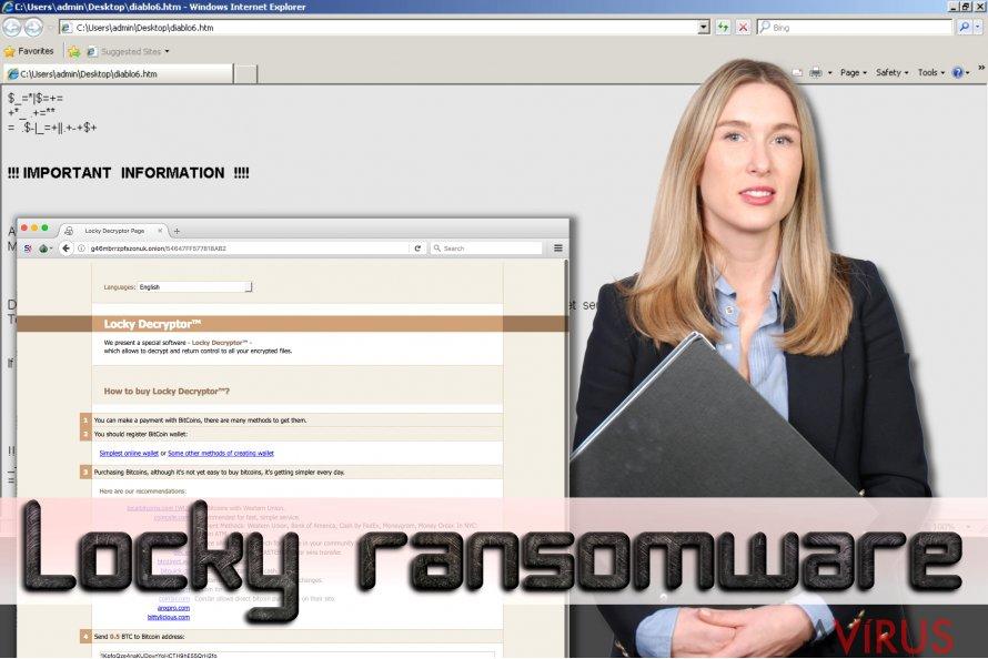 Locky ransomware kép