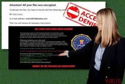 A Matrix ransomware