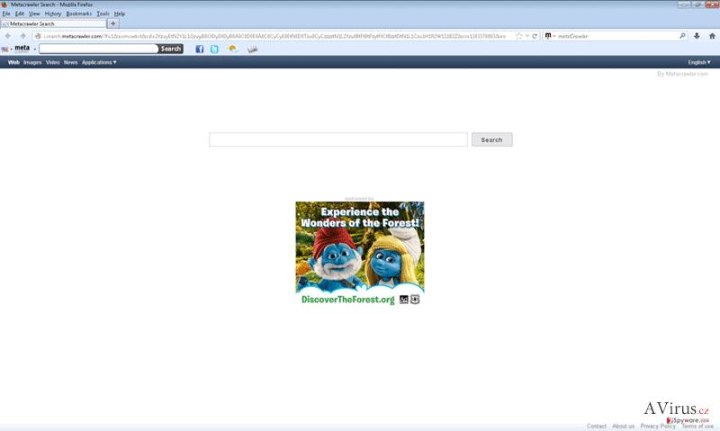 Metacrawler eszköztár kép