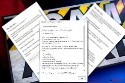 """Microsoft Warning Alert"" Tech support scam virus"