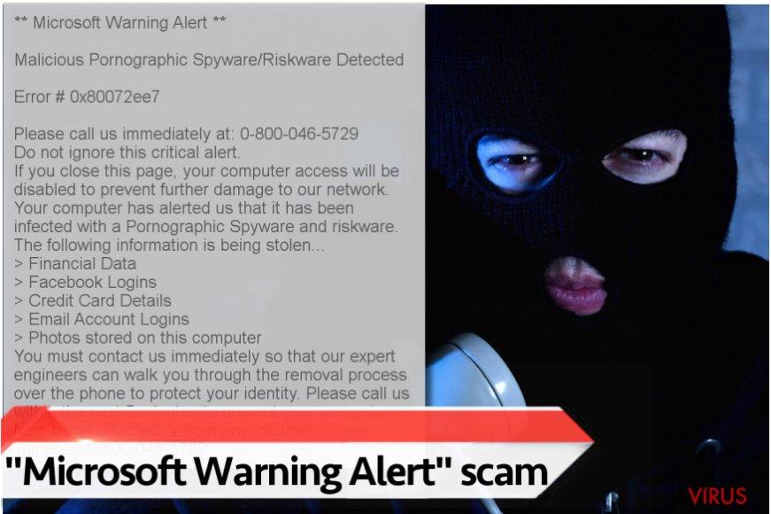 "A ""Microsoft Warning Alert"" vírus"