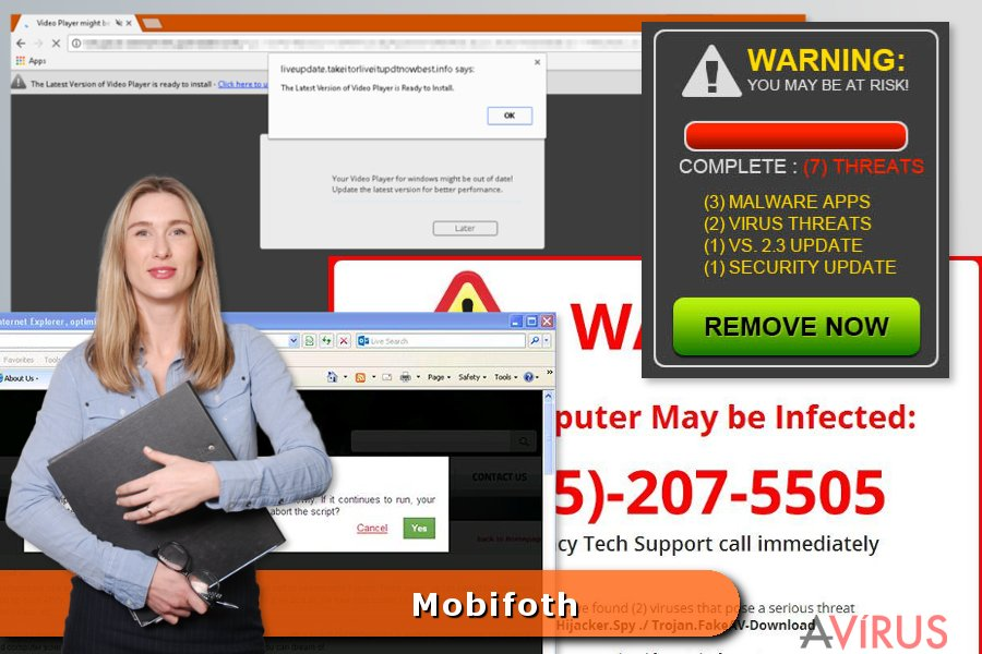 Példa a Mobifoth vírusra