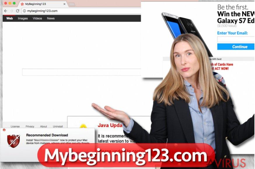 A Mybeginning123.com böngészőeltérítő
