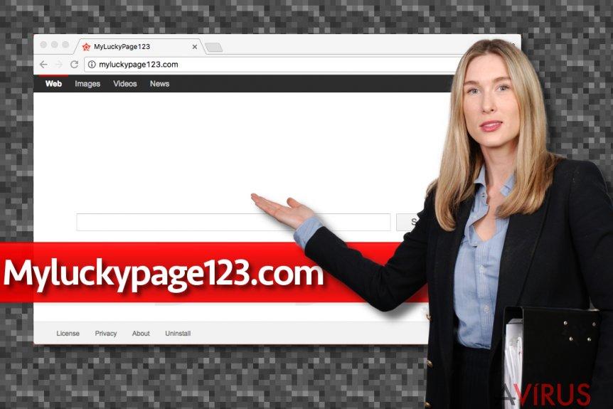 A Myluckypage123.com megtévesztő keresője