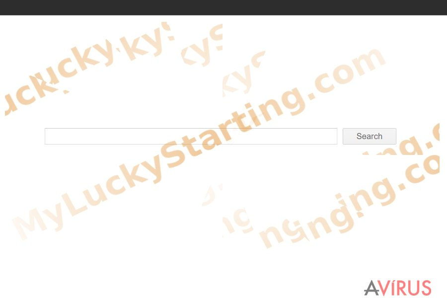 The image displaying myluckystarting.com
