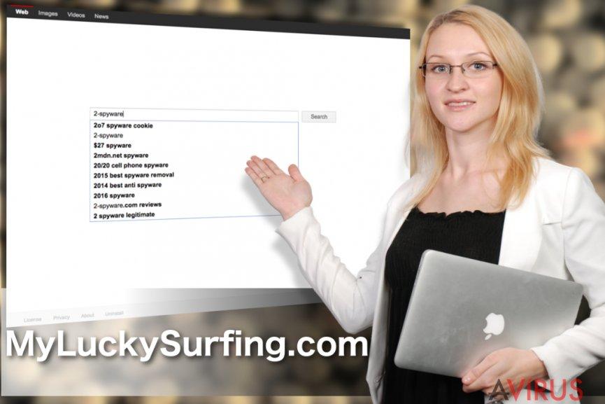 A MyLuckySurfing.com böngészőeltérítő