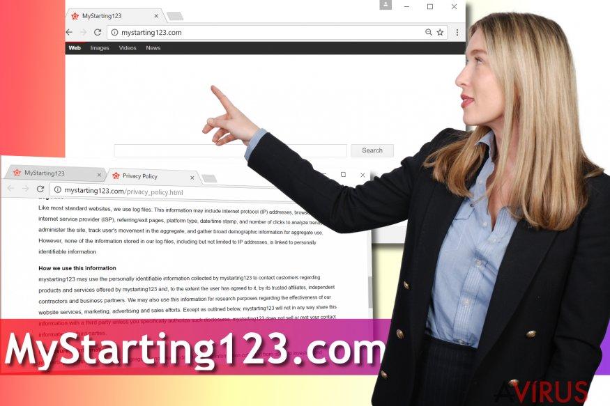 Mystarting123.com vírus