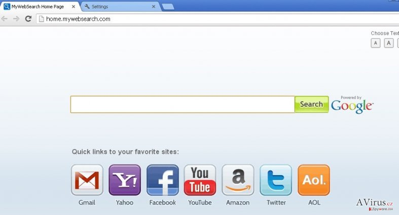 mywebsearch.com kép