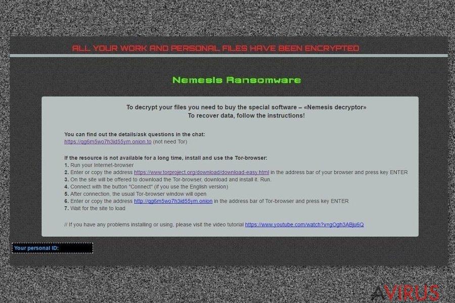 A Nemesis vírus üzenete