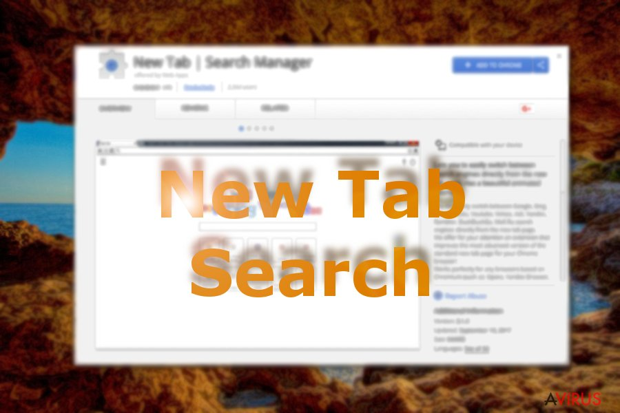 A New Tab Search a Chrome Web Store-ban