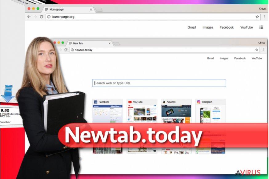 Kép a Newtab.today átirányító vírusról