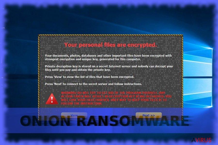 Onion ransomware kép