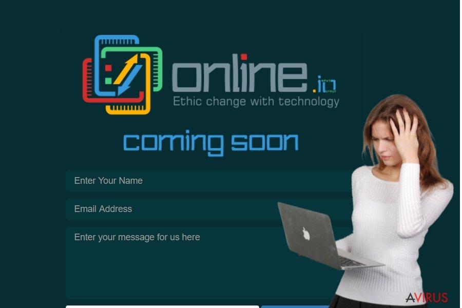 Online.io vírus kép