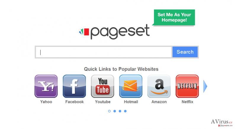 Pageset.com vírus kép