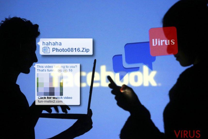 Facebook vírus kép
