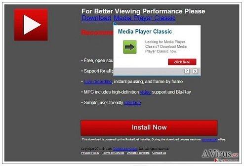 PremiumPlayerUpdates.com felugró vírus kép