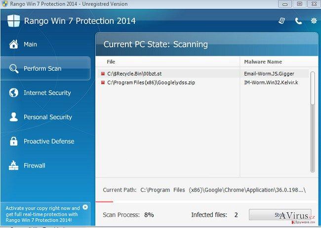 Rango Win 7 Antivirus 2014 kép