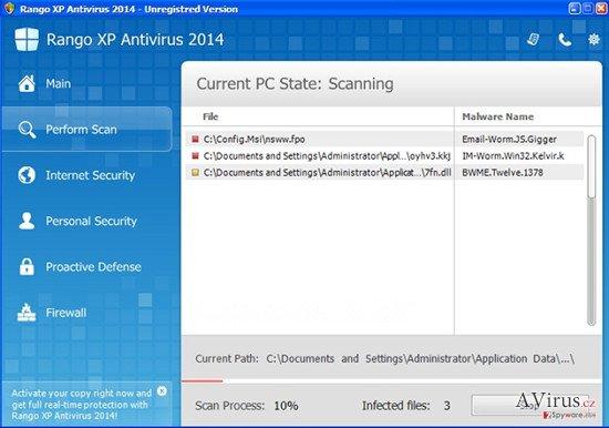 Rango XP Antivirus 2014 kép