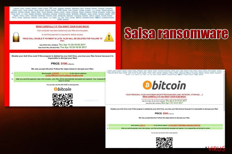Salsa ransomware vírus