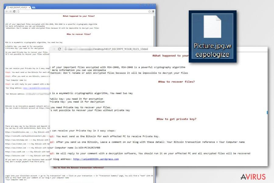 SamSam ransomware vírus kép