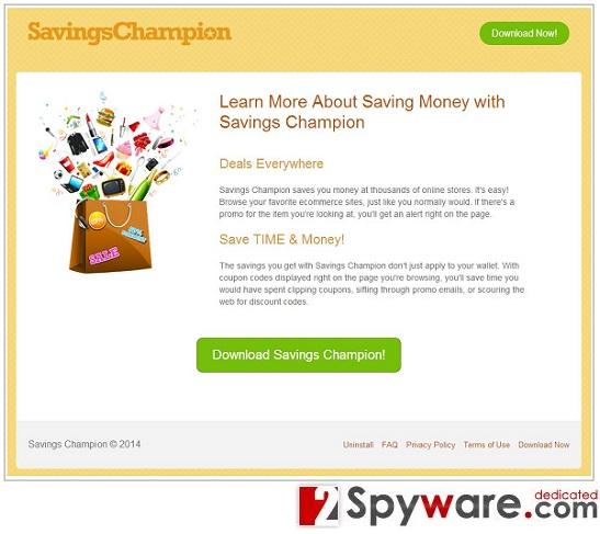 Savings Champion hirdetések kép