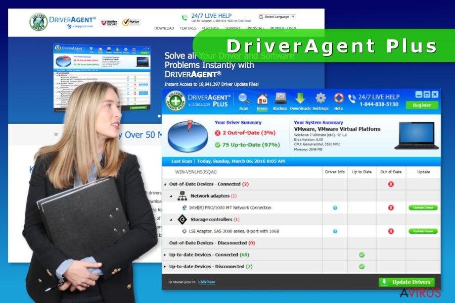Képernyőkép a DriverAgent Plus-ról