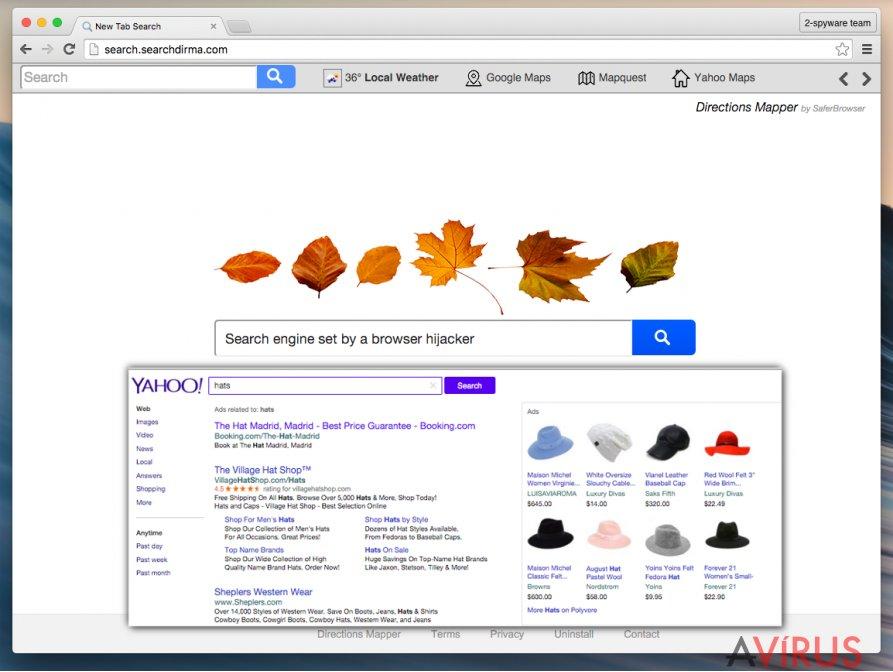 A Search.searchdirma.com átirányító vírus