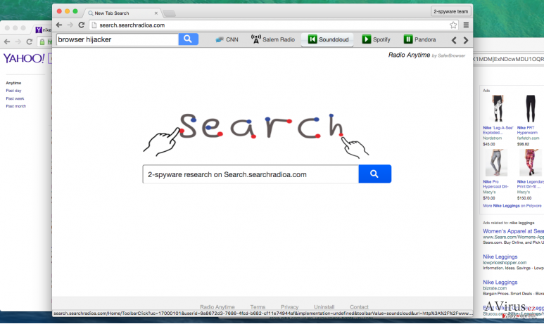 Search.searchradioa.com PUP replaces your homepage