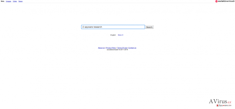 Search.socialdownloadr.com eltérítő