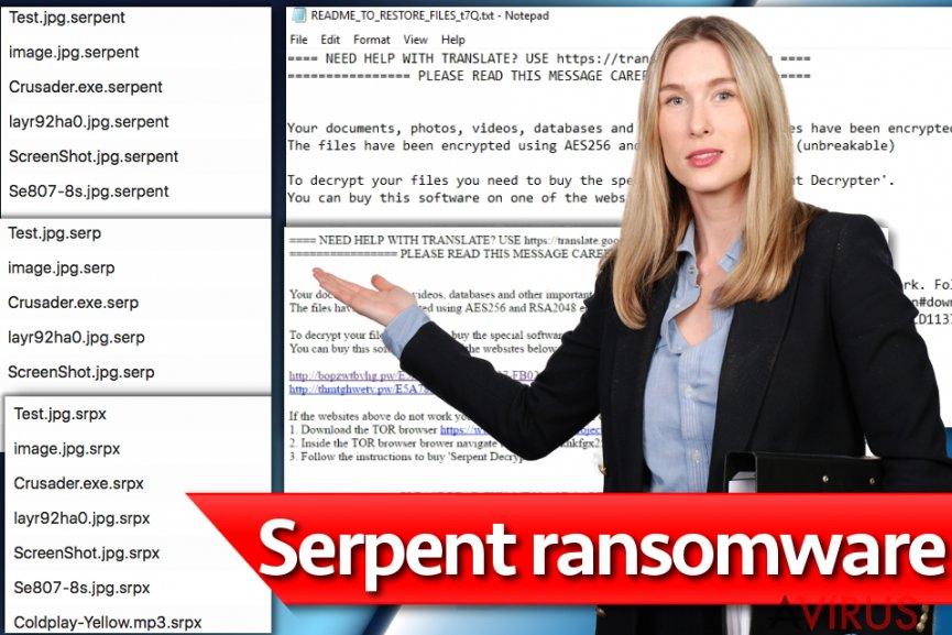 Serpent ransomware vírus kép