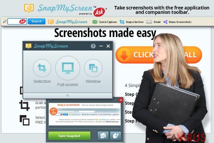 SnapMyScreen eszköztár