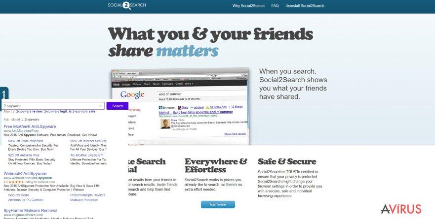 Social2Search hirdetések